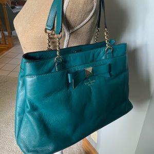 Kate Spade Teal Leather Shoulder Bag